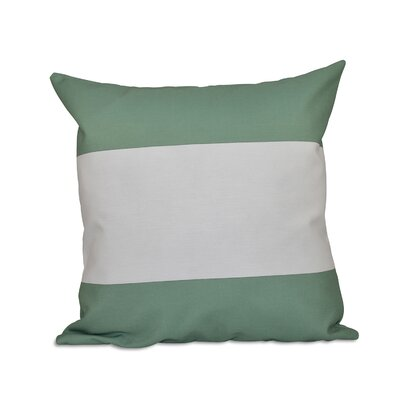 Big Stripe Horizontal Throw Pillow Color: Margarita Green, Size: 26 H x 26 W