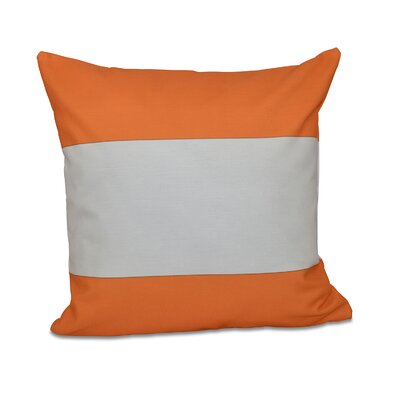 Big Stripe Horizontal Throw Pillow Color: Celosia Orange, Size: 18 H x 18 W