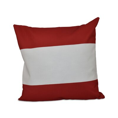 Big Stripe Horizontal Down Euro Pillow Color: Red