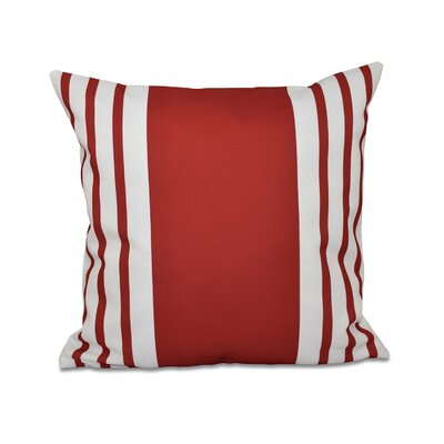Big and Bold Stripe Decorative Throw Pillow Size: 16 H x 16 W, Color: Red