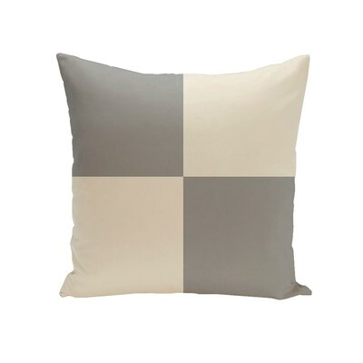 Holiday Brights Geometric Outdoor Pillow Size: 20 H x 20 W x 1 D, Color: Silver