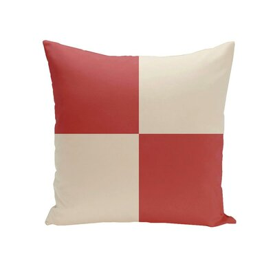 Holiday Brights Geometric Outdoor Pillow Size: 20 H x 20 W x 1 D, Color: Bulb