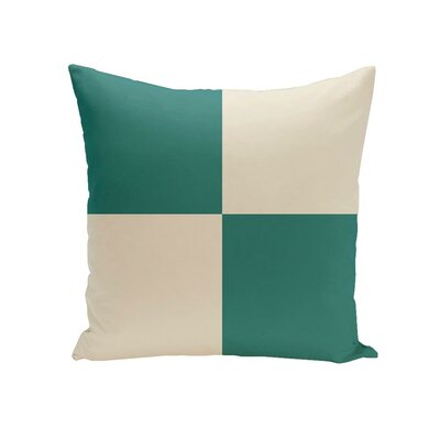 Holiday Brights Geometric Outdoor Pillow Size: 20 H x 20 W x 1 D, Color: Tinsel