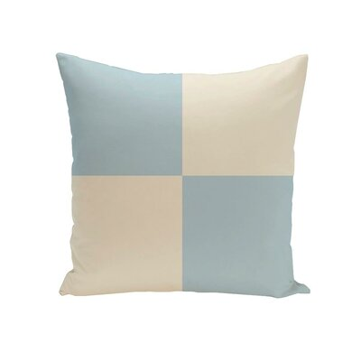 Holiday Brights Geometric Outdoor Pillow Color: Icicle, Size: 18 H x 18 W x 1 D