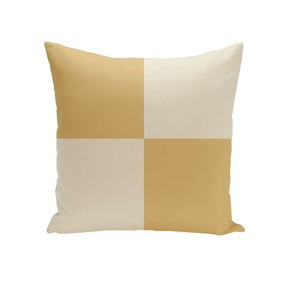 Holiday Brights Geometric Outdoor Pillow Color: Glow, Size: 18 H x 18 W x 1 D