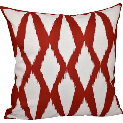 Geometric Decorative Hypo Allergenic Throw Pillow Size: 16 H x 16 W, Color: Red