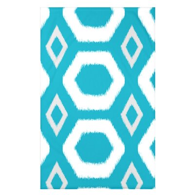 Geometric Print Fleece Throw Blanket Size: 60 L x 50 W x 0.5 D, Color: Caribbean