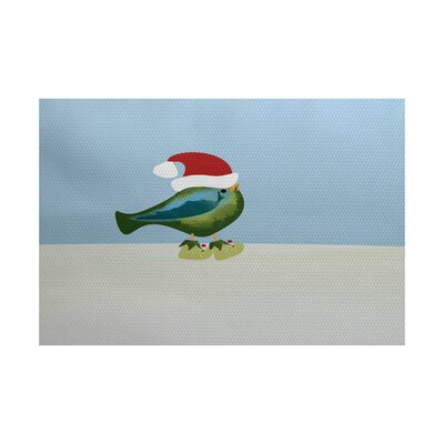 Christmass Blue/Green Indoor/Outdoor Area Rug Rug Size: 4 x 6