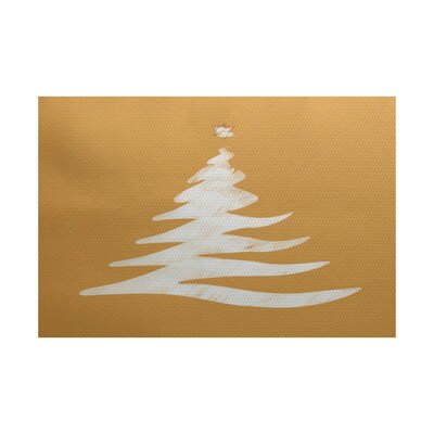Gold Indoor/Outdoor Area Rug Rug Size: Rectangle 3 x 5