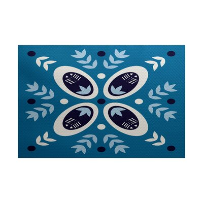 Mazee Blue Indoor/Outdoor Area Rug Rug Size: Rectangle 2 x 3