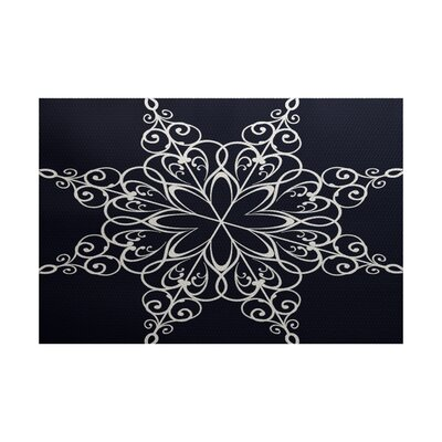 Blue Indoor/Outdoor Area Rug Rug Size: 5 x 7