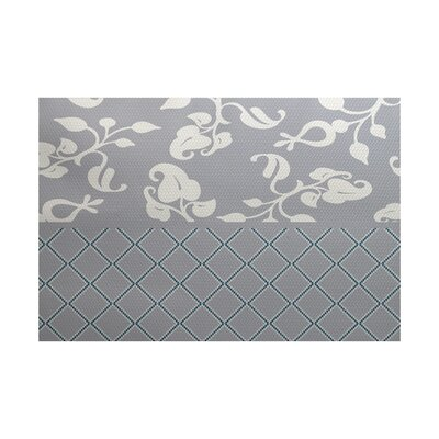 Gray Indoor/Outdoor Area Rug Rug Size: Rectangle 3 x 5