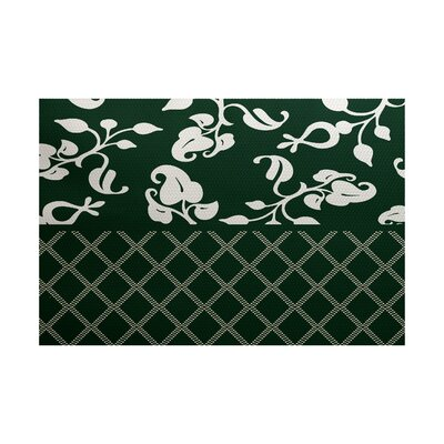 Green Indoor/Outdoor Area Rug Rug Size: Rectangle 2 x 3