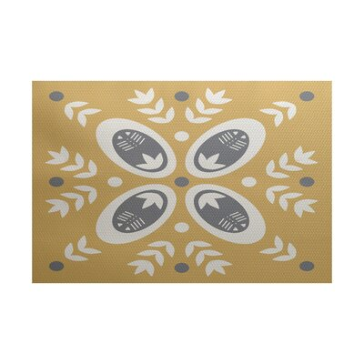 Mazee Beige Indoor/Outdoor Area Rug Rug Size: 5 x 7