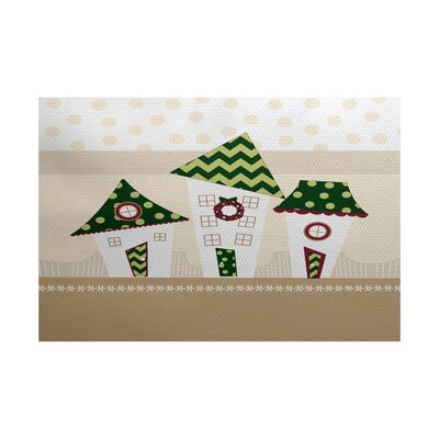 Christmass Green Indoor/Outdoor Area Rug Rug Size: 2 x 3