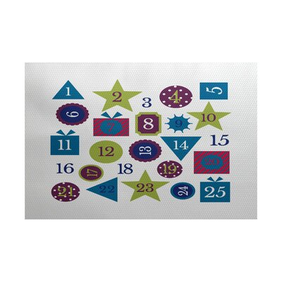 Blue Indoor/Outdoor Area Rug Rug Size: Rectangle 2 x 3