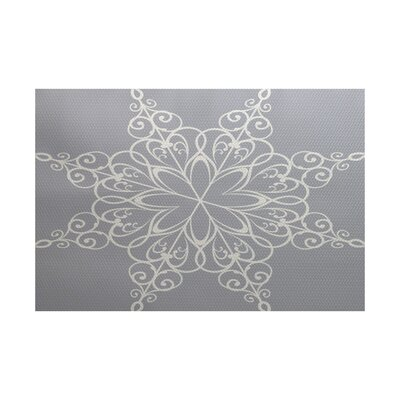 Gray Indoor/Outdoor Area Rug Rug Size: 4 x 6