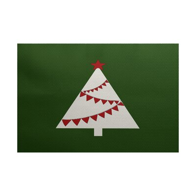 Christmass Tree Green Indoor/Outdoor Area Rug Rug Size: 5 x 7