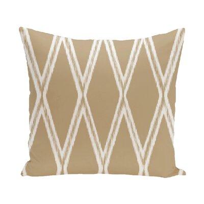 Gate Keeper Geometric Print Throw Pillow Size: 20 H x 20 W x 1 D, Color: Khaki