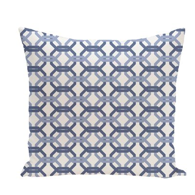 Were All Connected Geometric Print Throw Pillow Size: 18 H x 18 W x 1 D, Color: Cadet