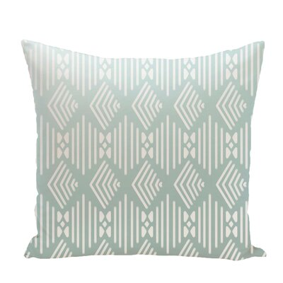 Fishbones Geometric Print Throw Pillow Size: 26