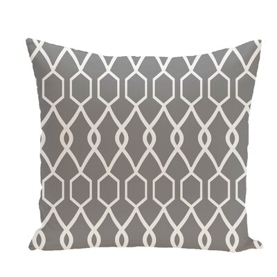 Charleston Geometric Print Throw Pillow Size: 18 H x 18 W x 1 D, Color: Classic Gray