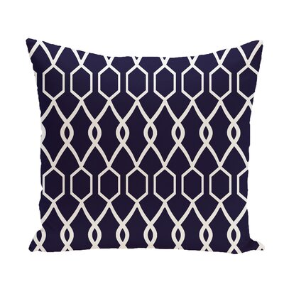 Bronstein Geometric Print Throw Pillow Size: 20 H x 20 W x 1 D, Color: Spring Navy