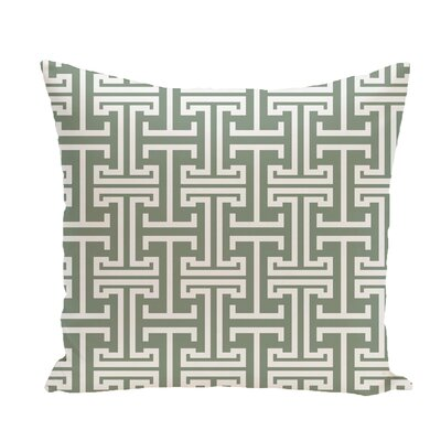Greek Isles Geometric Print Throw Pillow Size: 18 H x 18 W x 1 D, Color: Dusty Miller