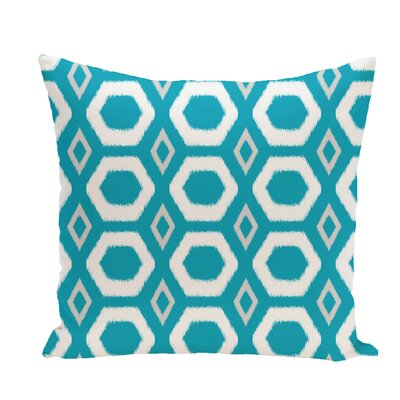 More Hugs and Kisses Geometric Print Throw Pillow Size: 16 H x 16 W x 1 D, Color: Caribbean