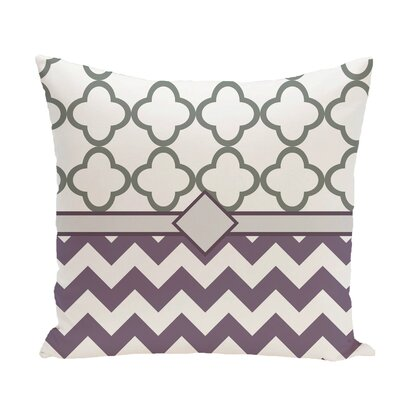 Express Line Geometric Print Throw Pillow Size: 18 H x 18 W x 1 D, Color: Larkspur