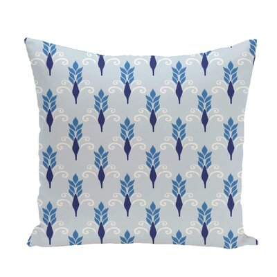 Friendship Floral Geometric Print Throw Pillow Size: 20 H x 20 W x 1 D, Color: Azure