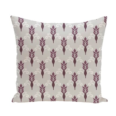 Friendship Floral Geometric Print Throw Pillow Size: 18 H x 18 W x 1 D, Color: Plum