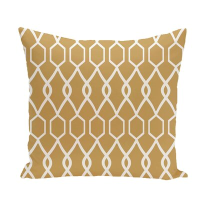 Charleston Geometric Print Throw Pillow Size: 20 H x 20 W x 1 D, Color: Dijon