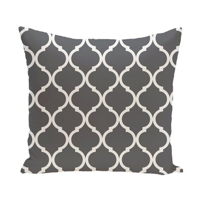 French Quarter Geometric Print Throw Pillow Size: 20 H x 20 W x 1 D, Color: Steel