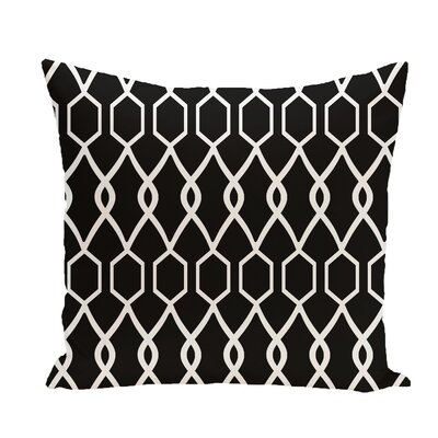 Charleston Geometric Print Throw Pillow Size: 16 H x 16 W x 1 D, Color: Raven
