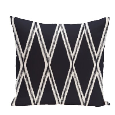 Gate Keeper Geometric Print Throw Pillow Color: Navy Blue, Size: 18 H x 18 W x 1 D