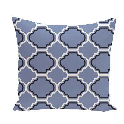 Road to Morocco Geometric Print Throw Pillow Size: 16 H x 16 W x 1 D, Color: Cornflower