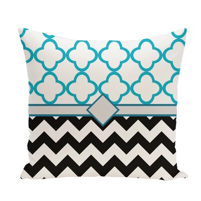Express Line Geometric Print Throw Pillow Size: 16 H x 16 W x 1 D, Color: Raven