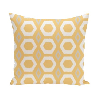 More Hugs and Kisses Geometric Print Throw Pillow Size: 20 H x 20 W x 1 D, Color: Lemon