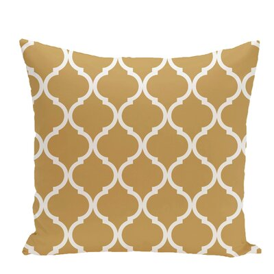 French Quarter Geometric Print Throw Pillow Size: 18 H x 18 W x 1 D, Color: Dijon