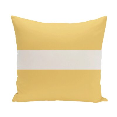 Narrow The Gap Stripe Print Throw Pillow Size: 18 H x 18 W x 1 D, Color: Soft Lemon