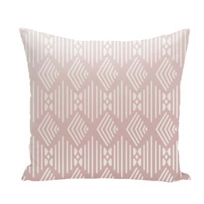 Andice Fishbones Geometric Print Throw Pillow Size: 18 H x 18 W x 1 D, Color: Blush