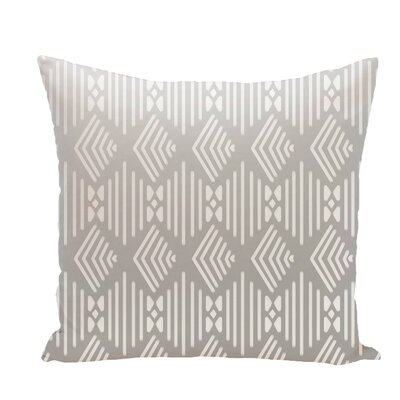 Andice Fishbones Geometric Print Throw Pillow Size: 16 H x 16 W x 1 D, Color: Rain Cloud