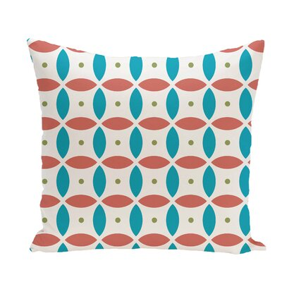 Beach Ball Geometric Print Throw Pillow Size: 18 H x 18 W x 1 D, Color: Seed