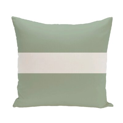 Narrow The Gap Stripe Print Throw Pillow Size: 16 H x 16 W x 1 D, Color: Pale Celery