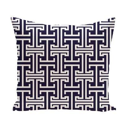 Greek Isles Geometric Print Throw Pillow Size: 16 H x 16 W x 1 D, Color: Spring Navy
