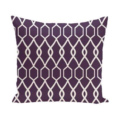 Charleston Geometric Print Throw Pillow Size: 18 H x 18 W x 1 D, Color: Grape