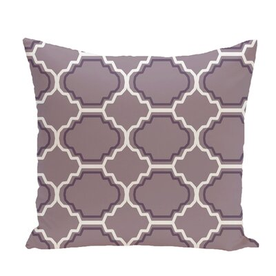 Road to Morocco Geometric Print Throw Pillow Size: 26 H x 26 W x 1 D, Color: Smog