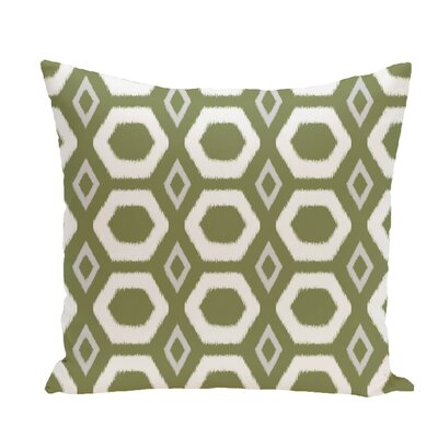 Brockley Geometric Print Throw Pillow Size: 26 H x 26 W x 1 D, Color: Olive