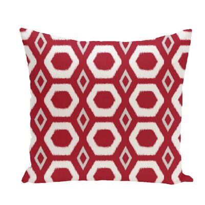 More Hugs and Kisses Geometric Print Throw Pillow Size: 20 H x 20 W x 1 D, Color: Formula One